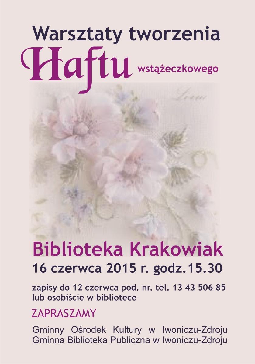 Plakat Haft wstążeczkowy