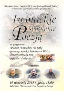 plakat Iwonickie spotkania z poezją 19 września