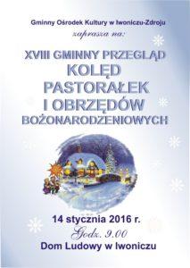 plakat kolędy 2016