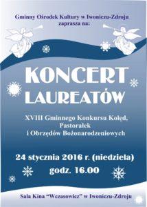 plakat koncert laureatów 2016
